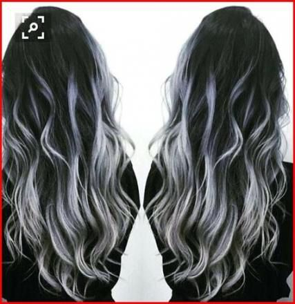 36 Trendy Ideas For Hair Color Black White Highlights Balayage Hair Hair Highlights Grey Ombre Hair