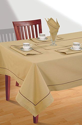 Yuga 100 Cotton Tablecloth For 6 Chair Standard Table Plain Table Cover Table Linen 60 X 90 Cotton Tablecloths Table Covers Table Cloth