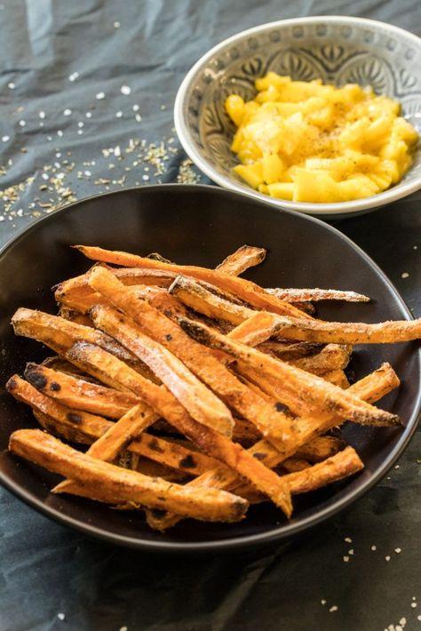 Süßkartoffelpommes aus dem Ofen // extra knusprig!