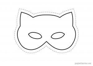 4 Mascaras De Goma Eva Para Recortar Gato Ninos Antifaces Para Ninos Caretas De Animales Mascara De Gato