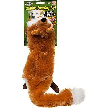 Crazy Critter Fox Stuffing Free Dog Toy As Seen On Tv You Can