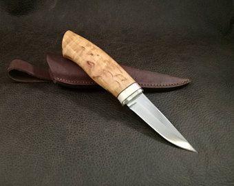 Mora Scandinavian Grind Puukko Neck Knife Custom Handmade Etsy Knife Knife Sheath Benchmade Knives
