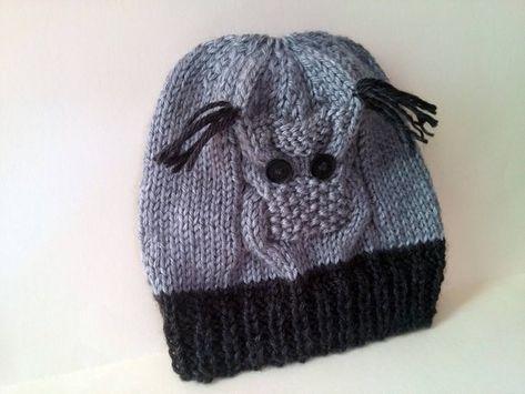 Greyblack Owl Baby Knit Hat Baby Owl Hat Knit Owl Owl Knit