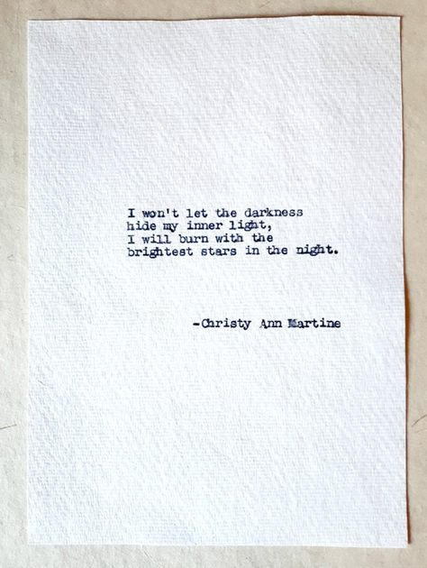 Darkness and Light Quote - Positive Inspiring Quotes - Motivational Sayings - Hand Typed Quote