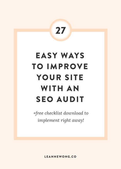 SEO Audit Checklist Template: 27 Easy Ways to Improve your Website Technical SEO - #audit #checklist #improve #technical #template #website - #SocialMediaTips