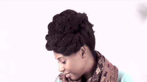 Elegant Natural Short To Medium Length Hair Updo Tutorial