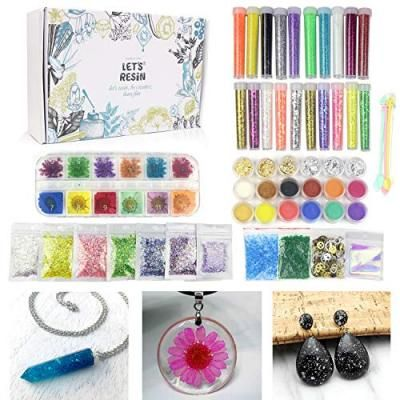 50 Pack Resin Jewelry Making Supplies Kit Let S Resin Art Craft