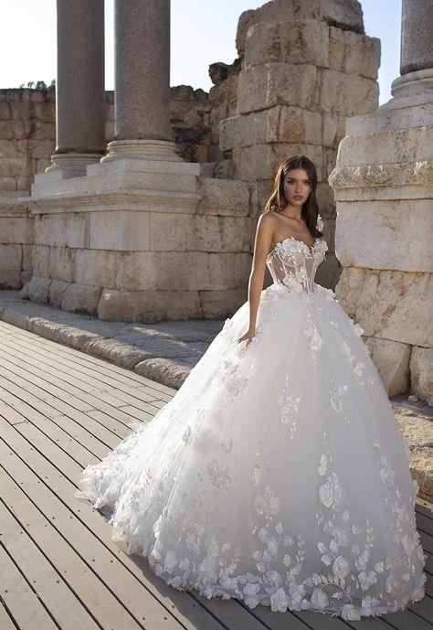 Pnina I went back Pinina Tornai Wedding Dresses, Wedding Dress Organza, V Neck Wedding Dress, Fit And Flare Wedding Dress, Cute Wedding Dress, 2015 Wedding Dresses, Bridal Dresses, Lace Dress, Gown Wedding