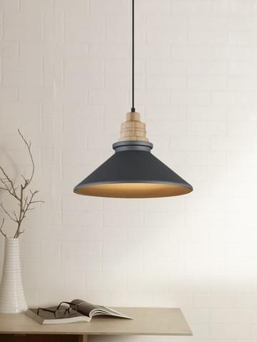 Arnel Black Scandinavian Pendant Lamp Buy Hanging Lights Online India Inspired Wooden Pendant Lighting Scandinavian Pendant Lighting Pendent Lights Kitchen
