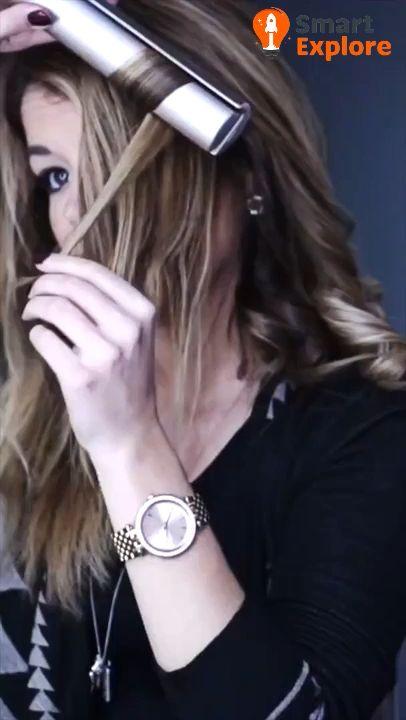 2 in 1 Hair Straightener & Curler 😍
