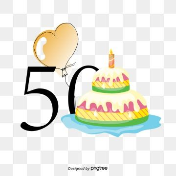 50th Anniversary Birthday Vector Birthday Clipart Decoration Vector Png And Vector With Transparent Background For Free Download Birthday Clipart Birthday Logo Birthday