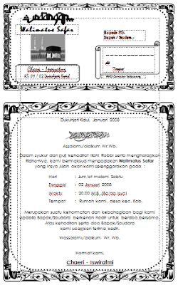 Contoh Undangan Walimatul Umroh : contoh, undangan, walimatul, umroh, Contoh, Surat, Undangan, Walimatul, Safar, Daftar, Cute766