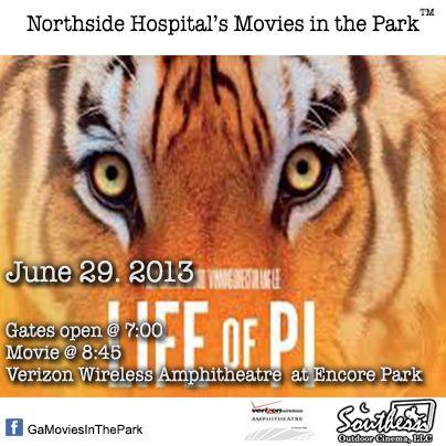 June 29 - Movies in the Park™ - Alpharetta / Johns Creek.  For a list of free outdoor movies around Atlanta: www.facebook.com/GaMoviesInthePark