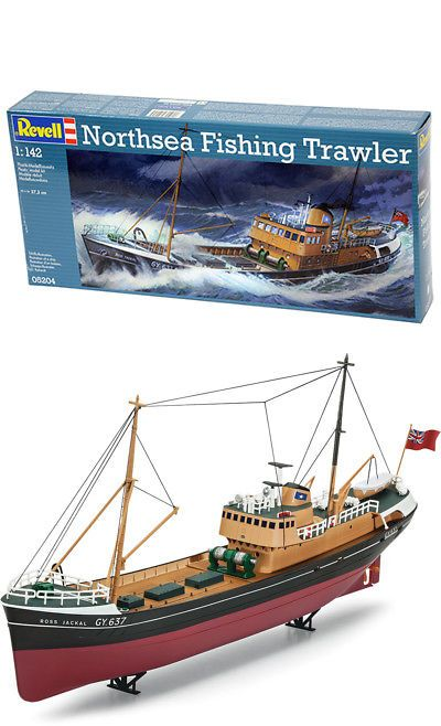 Boats Ships 152928 Revell Germany 5204 North Sea Fishing Trawler Plastic Model Kit 1 142 Buy It Now Only 14 25 On Eb Boat Model Boats Tug Boats For Sale