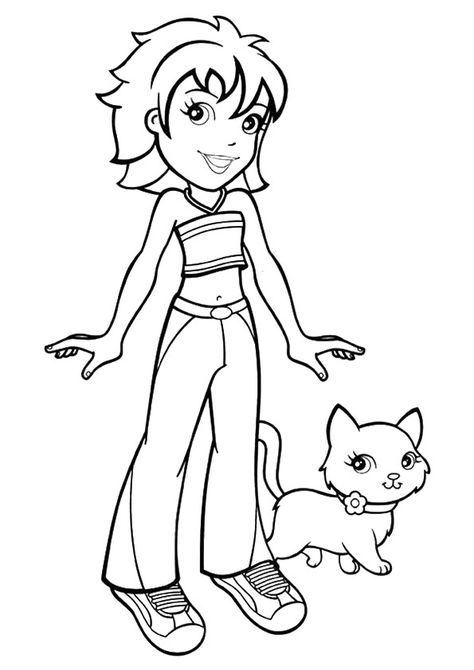 10 Cute Polly Pocket Coloring Pages For Your Little One Cat