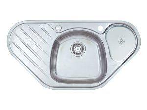BLANCO Toga 9/E /évier en acier inoxydable finition naturelle dangle 513604/pour armoire dangle 90/cm Argent