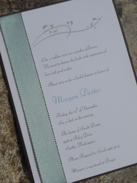 Home Made Wedding Invitations Homemade