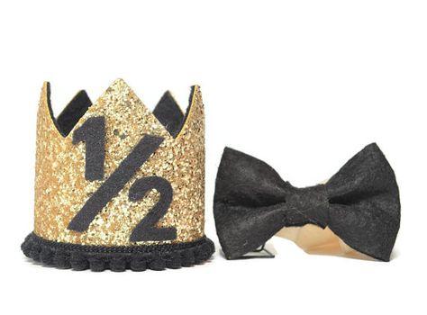 Gold Half Birthday Boy Crown