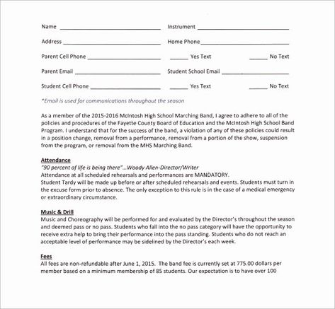 Wedding Band Contract Template In 2020 Contract Template Event