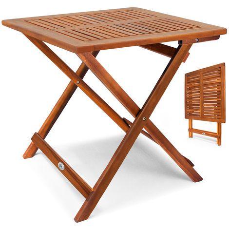 Tavolo In Legno Da Giardino Pieghevole.Tavolo Da Giardino In Legno Di Acacia Oliato 46 Cm X 46 Cm Marrone