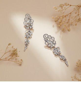 """JJsHouse Earrings Alloy Rhinestones Pierced Ladies' Charming 3.15\""""(Approx.8cm) 0.98\""""(Approx.2.5cm) Drop Earrings Wedding & Party Jewelry. #JJsHouse #Earrings #Alloy #Rhinestones #Pierced #Ladies' #Charming #DropEarrings #Wedding&PartyJewelry"""