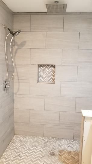 Home Decorators Collection Nova Falls Gray 12 In X 24 In Porcelain Floor And Wall Tile 15 6 Sq In 2020 Beautiful Bathroom Decor Bathroom Remodel Designs Shower Tile