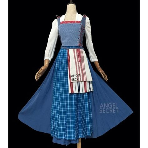 This costume includes the white shirt, blue skirt, apron and white corset. Made of cotton blends fabric. Adult size, custom made size Please write your measurement in order note bust waist hip shoulder to shoulder height from head to toe
