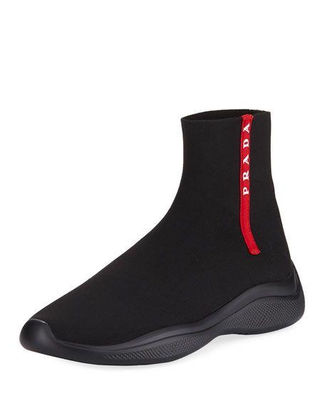 Prada men shoes, Boots, Sneaker boots