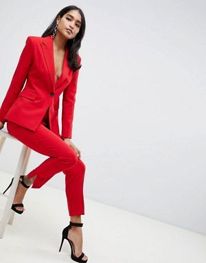 Womens Red Pantsuit