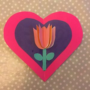 3d Tulip Card Tulips Card Cards Template Printable