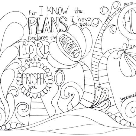 Jeremiah29 11 Sunday School Coloring Pages Jeremiah 29 11 Printable Coloring Pages