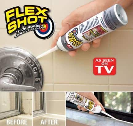 Flex Shot Super Thick Caulk And Sealer Rubber Sealant Flex What Is Flex