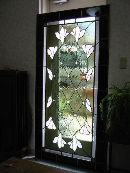 木蓮ドア 画像あり ステンドグラス ドア ステンドグラスアート