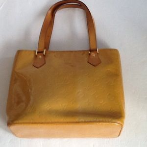 ccdd7e252f67 I just added this to my closet on Poshmark  Authentic Louis Vuitton Vernis  Houston Yellow Bag. Price   160 Size  OS