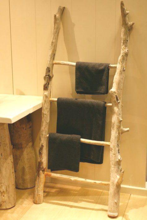 Leiter Handtuchhalter Mehr Als 3 Stangen Mit Fusgestell Holz Echelle By C Handtuchhalter Handtuchhalter Holz Tuch