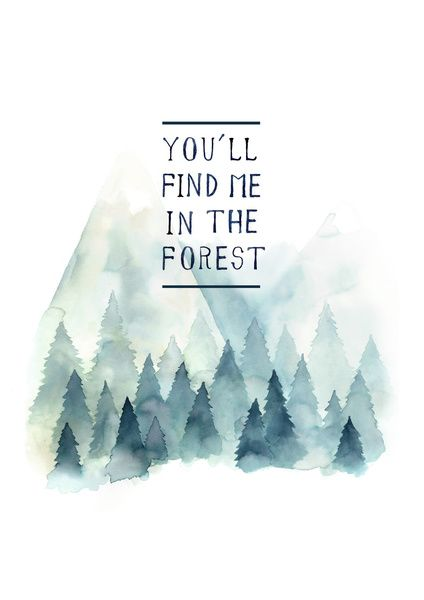 You´ll find me in the forest Art Print by Ariana Perez