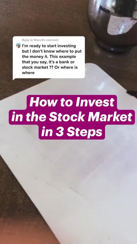 How to Invest in the Stock Market in 3 Easy Steps