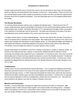 Introductory Handout Animal Farm By George Orwell Thi 2 Page Provide Information To Help 7th 8th 9th 10th 11th Handouts Conclusion Essay