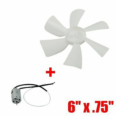 Sponsored Ebay Rv Roof Bathroom Air 6 X 75 Vent Fan 6 Blade With 12v Motor Mobile Home White Bath Exhaust Fan Mobile Home Parts And Accessories