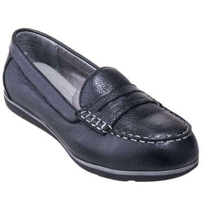 Rockport Shoes: Women's RK600 Black Steel Toe ESD Penny Loafers - Women's Steel Toe Work Shoes - Women's Steel Toe Shoes - Footwear