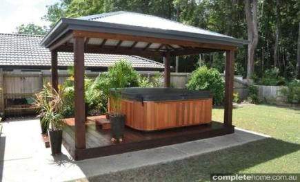 Best Backyard Hot Tub Ideas Outdoor Spa Pergolas 57 Ideas