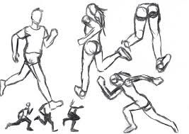 Image Result For How To Draw Human Running Human Drawing Drawing People Drawings