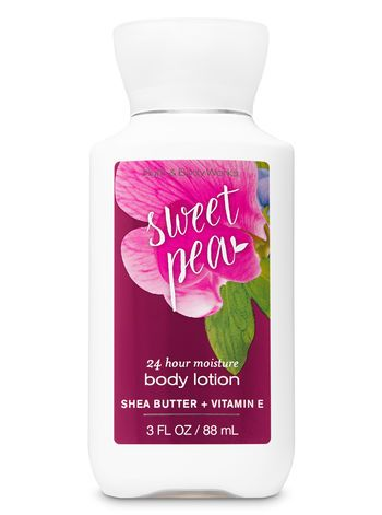 Signature Collection Sweet Pea Travel Size Body Lotion Bath And