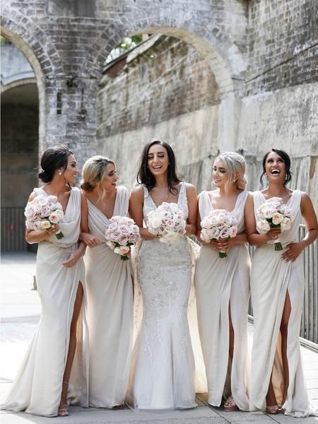 Mila Gowns Carla Champagne Bridesmaid Dresses White Bridesmaid Dresses Bridesmaid Dresses