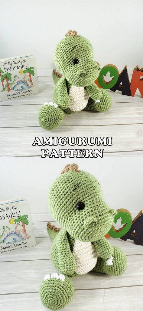 Drake the Dragon - Amigurumi Crochet Pattern in 2020 | Crochet ... | 1024x473