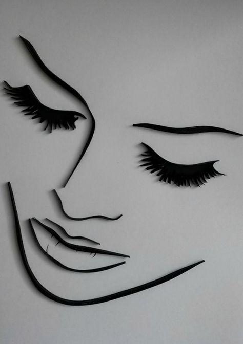 quilling, handmade, woman profile, art  #Art #handmade #profile #quilling #woman