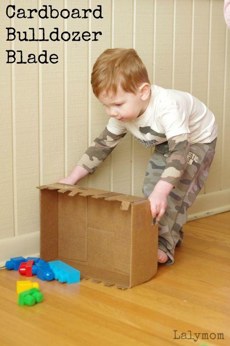 Cardboard Crafts - DIY Bulldozer Blade Toy