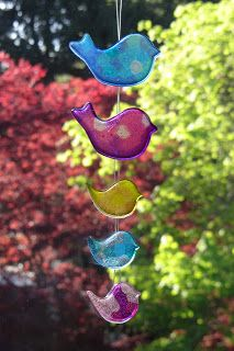 "Give Your Octopus a Paintbrush (or 8): Pony Bead ""Glass"" Sun-catchers"