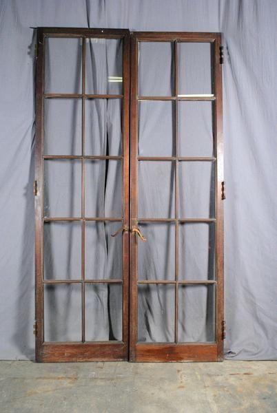 French Door Set Wood 10 Lite Rustic Living Room Furniture French Doors Interior Barn Doors