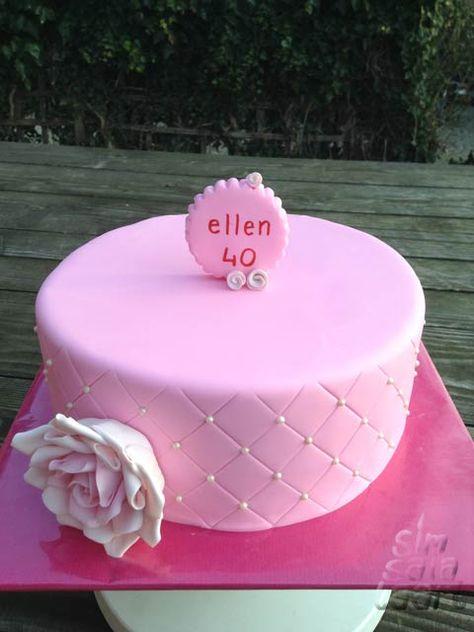 Roze Verjaardagstaart